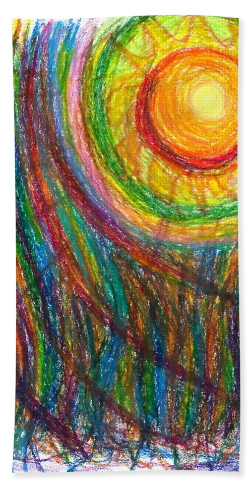 Oil Hand Towel featuring the drawing Starburst - The Nebular Dawning Of A New Myth And A New Age by Daina White