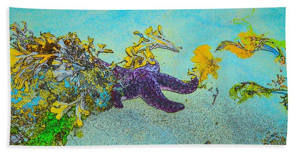 Hidden Bath Sheet featuring the photograph Starfish Paradise by Roxy Hurtubise