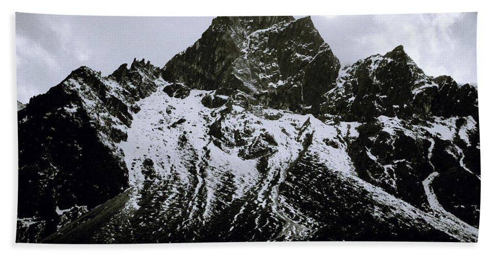 Dramatic Landscape Hand Towel featuring the photograph Stark Himalayas by Shaun Higson