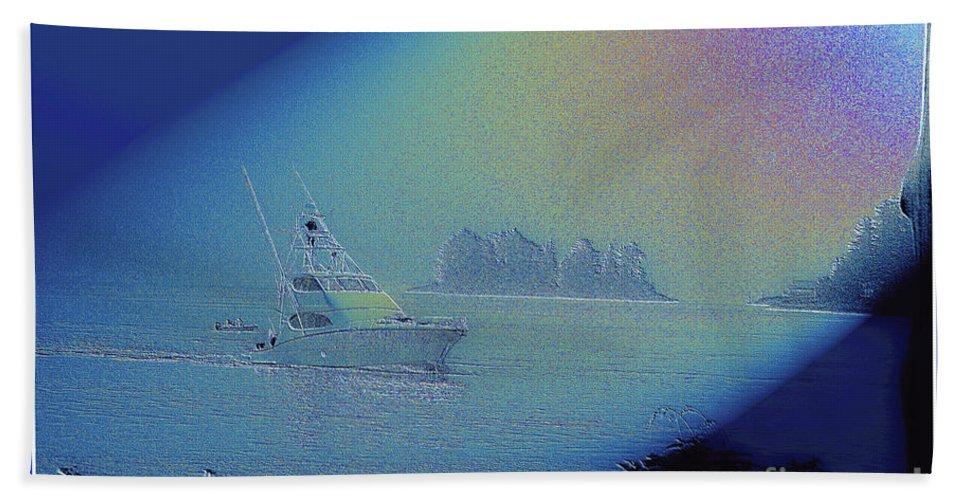 Digital Art Bath Sheet featuring the digital art Starlight Cruising by Victoria Harrington