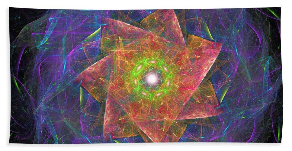 Mandala Bath Sheet featuring the digital art Starlight by Ricky Barnard