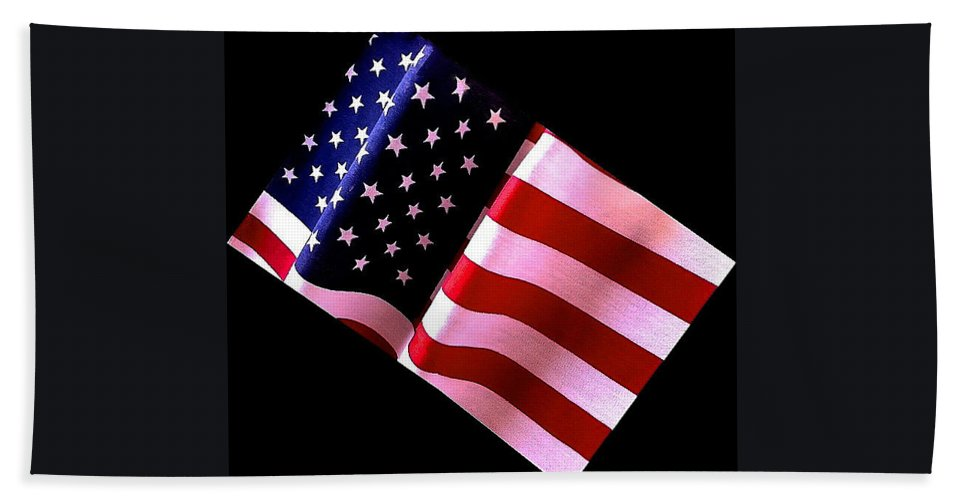 Stars Hand Towel featuring the photograph Stars And Stripes by Bill Owen