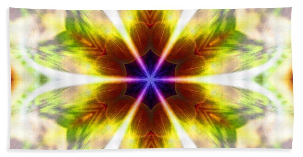 Sacredlife Mandalas Hand Towel featuring the photograph Starseed Rainbow by Derek Gedney