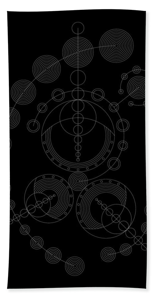 Relief Hand Towel featuring the digital art Starship Inverse by DB Artist