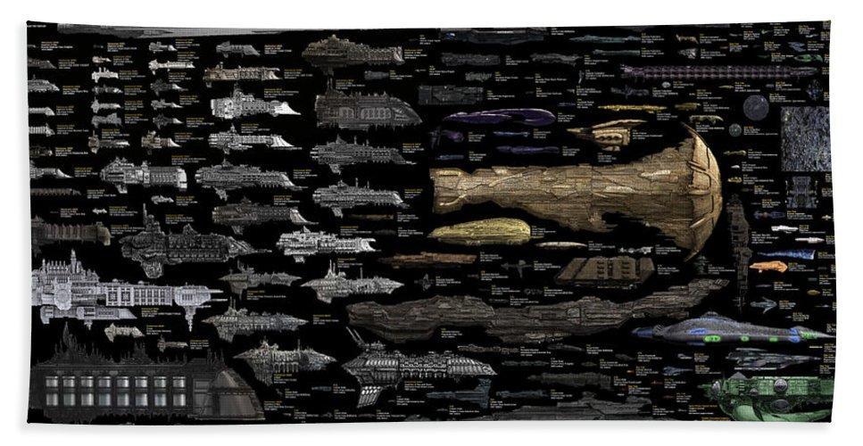 Bath Sheet featuring the digital art Starships... by Tim Fillingim