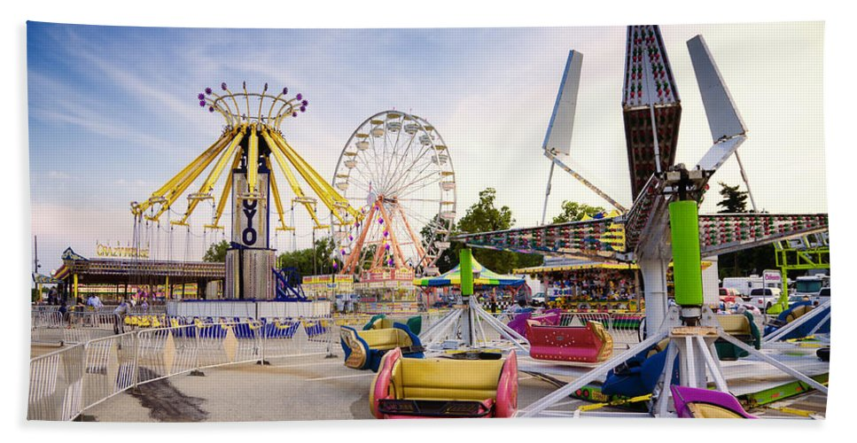 State Hand Towel featuring the photograph State Fair by Alexey Stiop