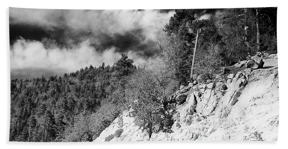 April Hand Towel featuring the photograph State Route 18 by Phill Doherty