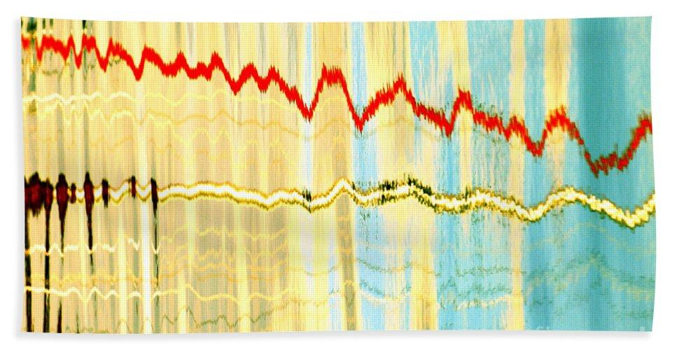 Static 2 Bath Sheet featuring the digital art Static 2 by Wendy Wilton