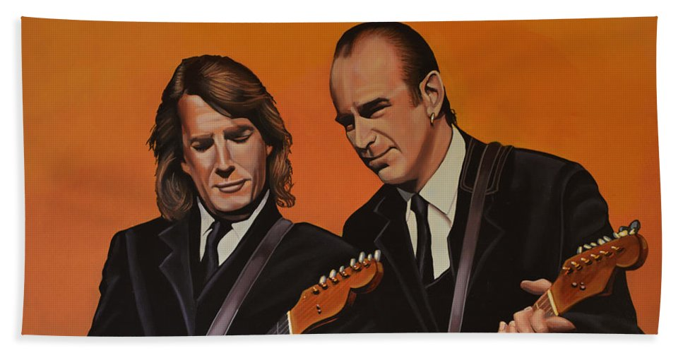 Status Quo Hand Towel featuring the painting Status Quo by Paul Meijering