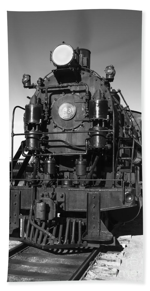 Train Bath Sheet featuring the photograph Steam Engine by Robert Bales