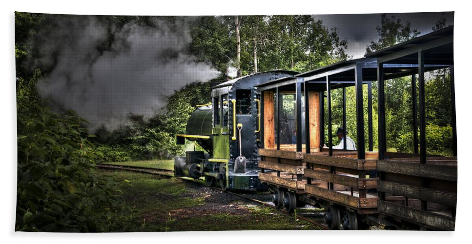 Coaches Hand Towel featuring the photograph Steam Locomotive by Deborah Klubertanz