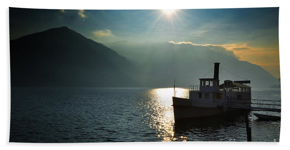 Steam Ship Hand Towel featuring the photograph Steam Ship by Mats Silvan