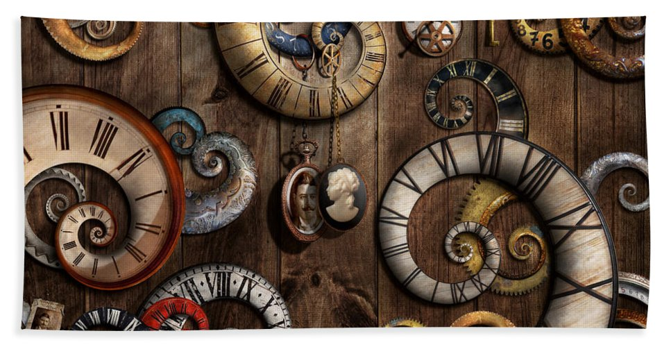 Steampunk Clock Time Machine Hand Towel For Sale By Mike Savad