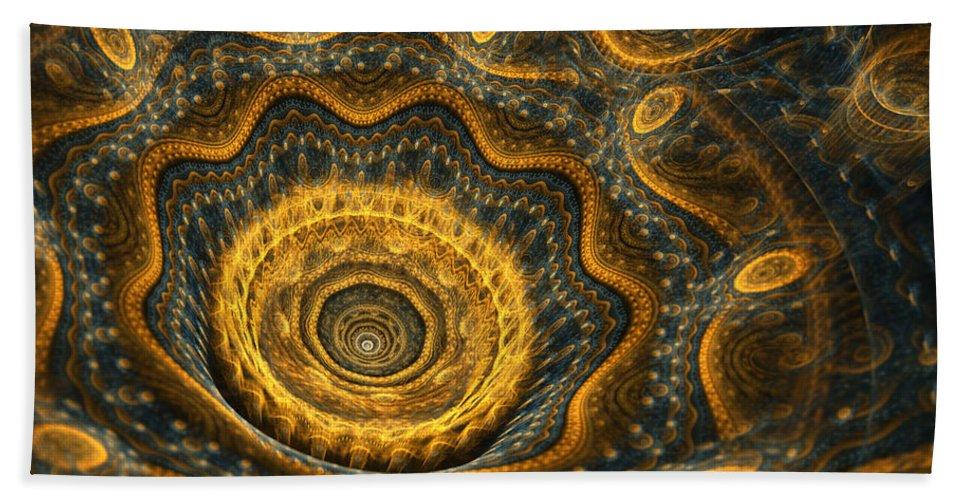 Flower Bath Sheet featuring the digital art Steampunk Flower by Martin Capek
