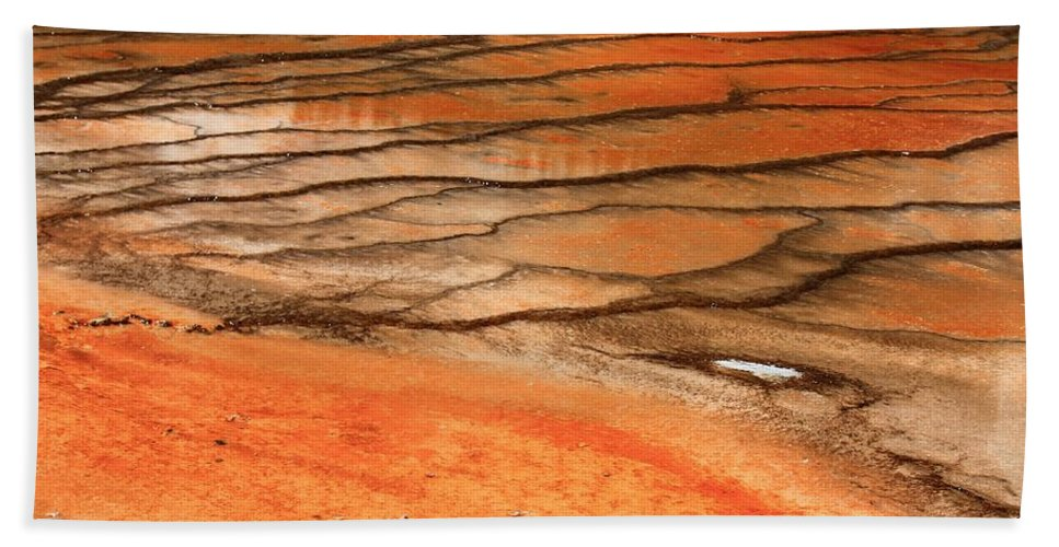 Yellowstone National Park Bath Sheet featuring the photograph Steamy Stones by Catie Canetti