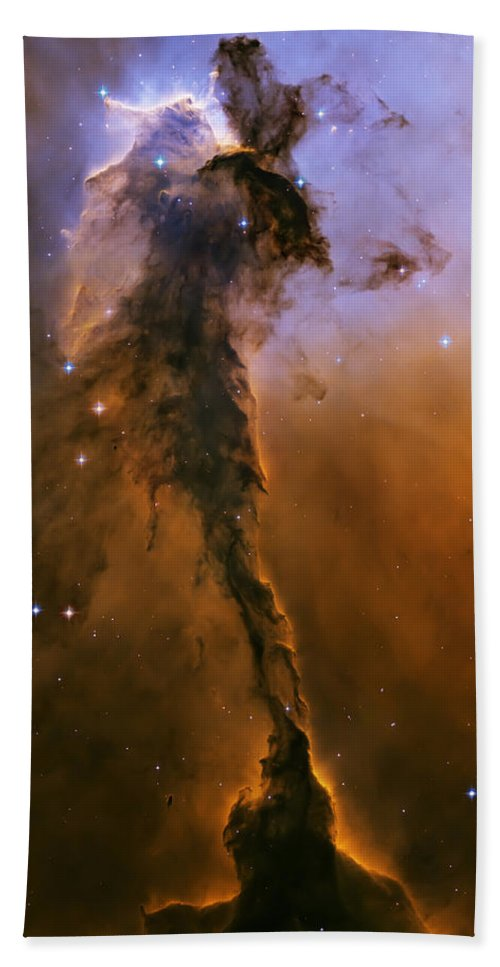 3scape Hand Towel featuring the photograph Stellar Spire In The Eagle Nebula by Adam Romanowicz