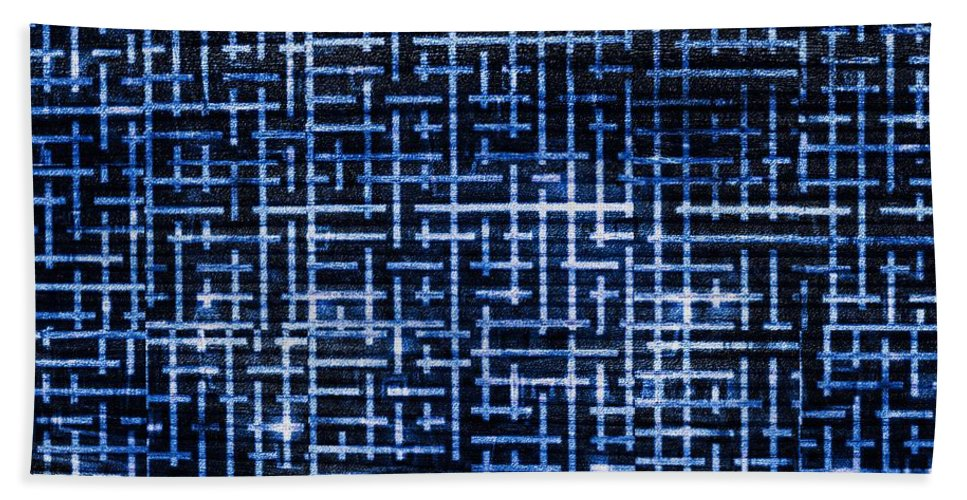 Stick Hand Towel featuring the digital art Stick Labyrinth by Hakon Soreide