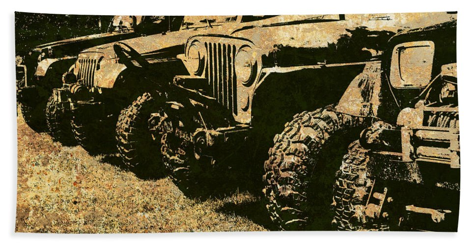 Jeep Hand Towel featuring the photograph Sticks And Stones ... Won't Break My Bones by Luke Moore