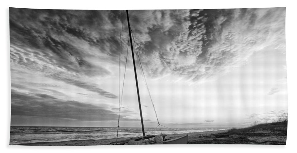 Beach Hand Towel featuring the photograph Still Ashore by Phill Doherty