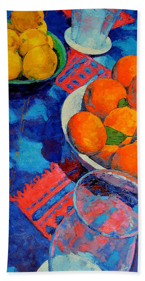 Still Life Hand Towel featuring the painting Still Life 2 by Iliyan Bozhanov