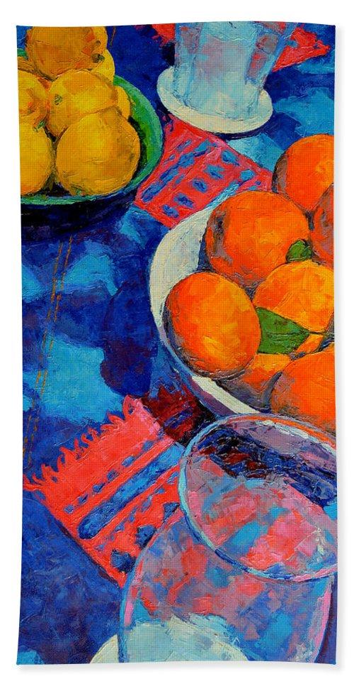 Still Life Bath Towel featuring the painting Still Life 2 by Iliyan Bozhanov
