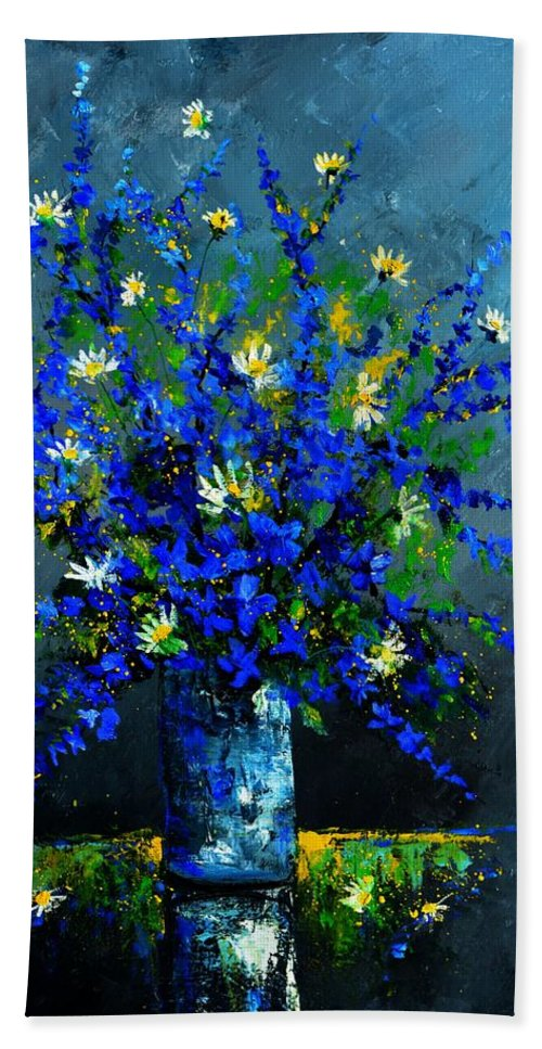 Flowers Hand Towel featuring the painting Still life 675130 by Pol Ledent