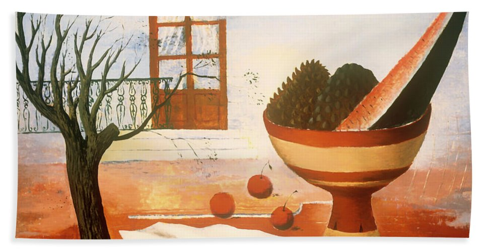 Painting Bath Sheet featuring the painting Still Life by Mountain Dreams