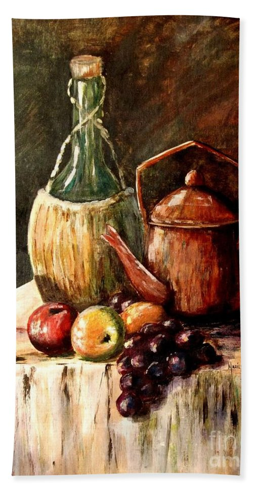 Still Life Hand Towel featuring the painting Still Life by Marilyn Smith