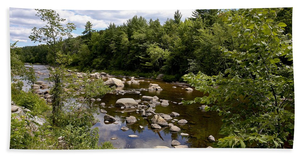River Adirondack Hand Towel featuring the photograph Still Water by Eric Swan