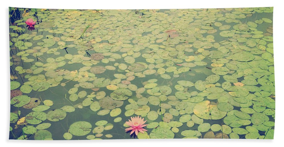 Green Hand Towel featuring the photograph Still Waters by Olivia StClaire