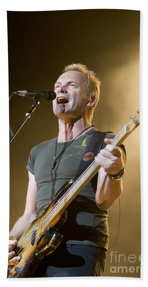 Sting Bath Sheet featuring the photograph Sting Of The Police by Jason O Watson