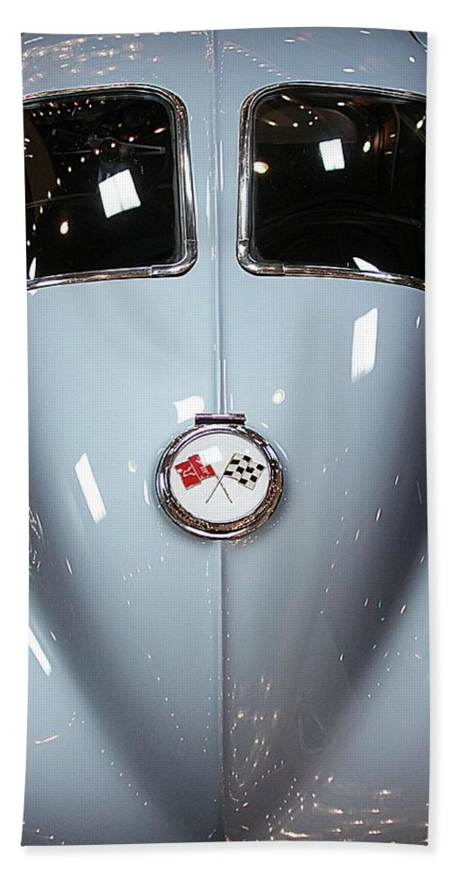 Chevrolet Corvette Split Window Sting Ray Coupe Hand Towel featuring the photograph '63 Sting Ray by Aaron Berg