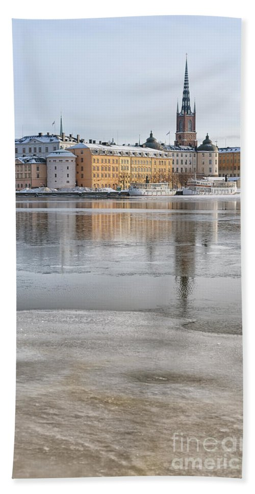Postcard Bath Sheet featuring the photograph Stockholm Winter by Antony McAulay