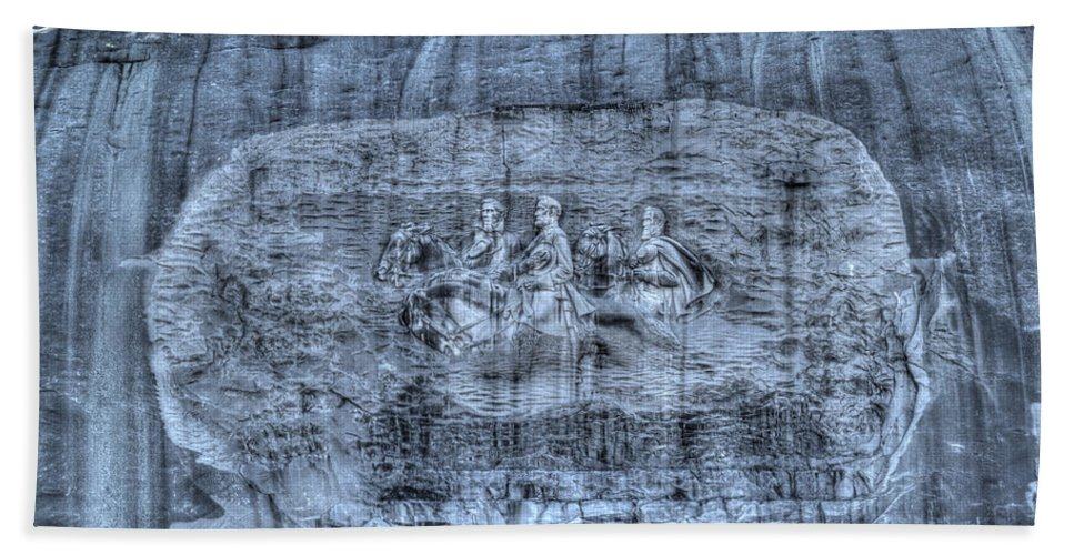 Stone Hand Towel featuring the photograph Stone Mountain - 1 by Charles Hite