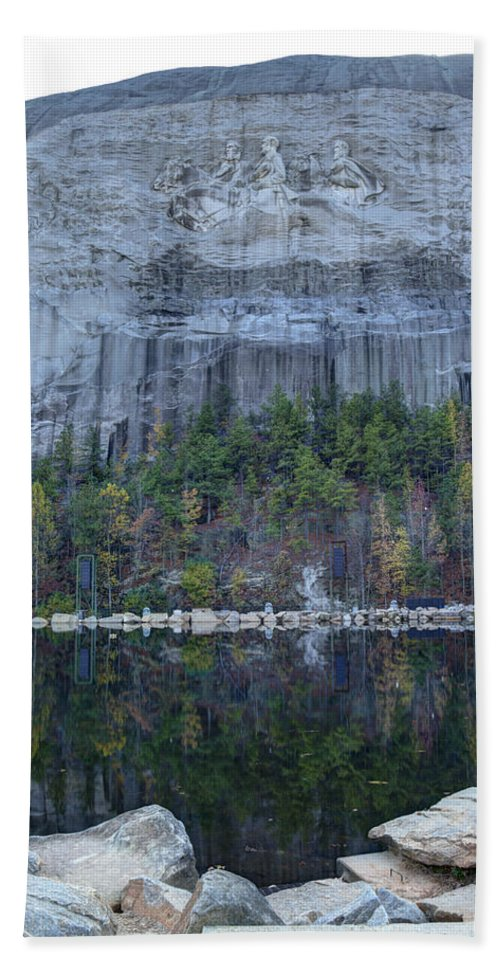 Stone Hand Towel featuring the photograph Stone Mountain - 2 by Charles Hite