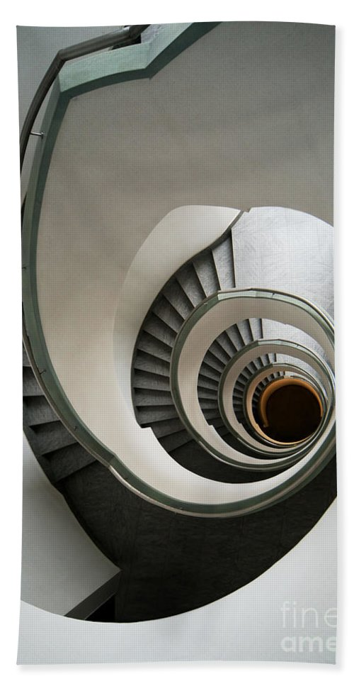 Architecture Bath Sheet featuring the photograph Stone Staircase by Jaroslaw Blaminsky