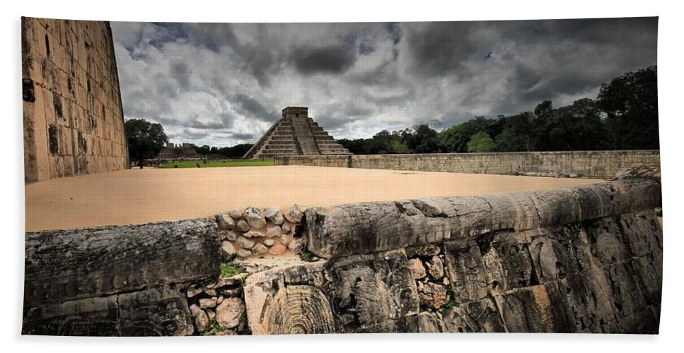 Architectural Art Bath Sheet featuring the photograph Stoned by Robert McCubbin