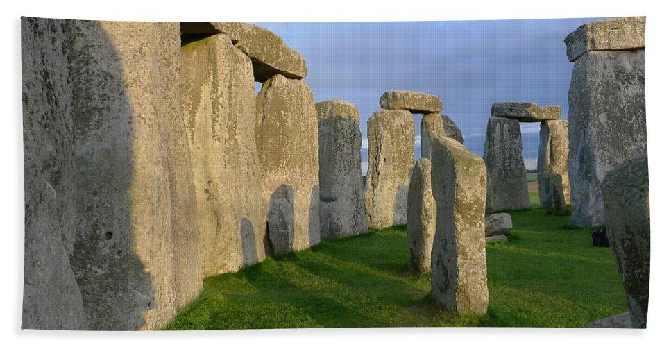 Stonehenge Bath Sheet featuring the photograph Stonehenge Stones by Denise Mazzocco