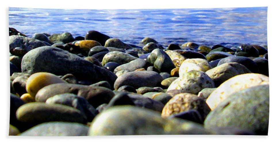 Ocean Bath Sheet featuring the photograph Stones To Admire by Marcello Cicchini