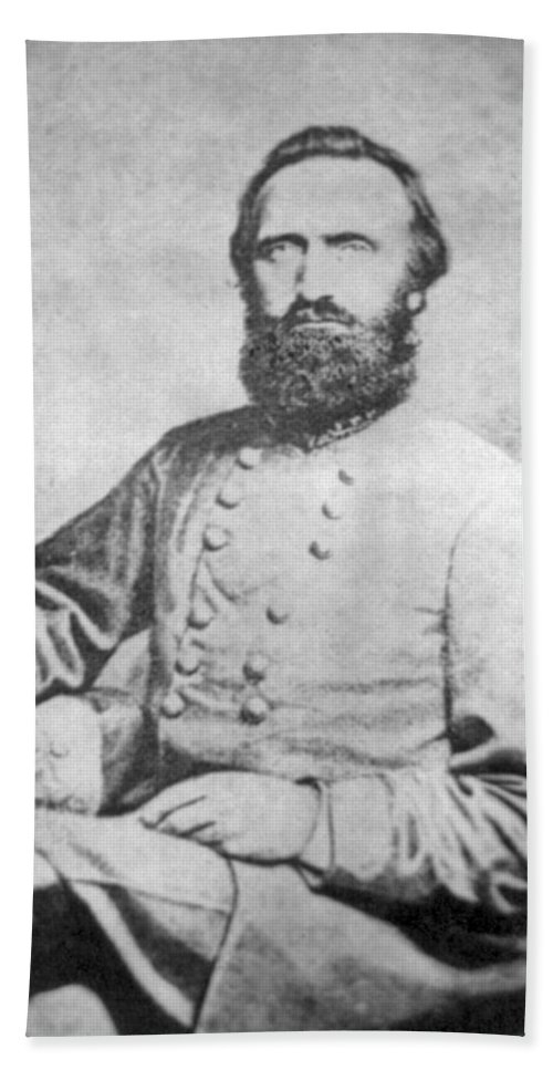 Stonewall Jackson Bath Sheet featuring the photograph Stonewall Jackson by History Cases