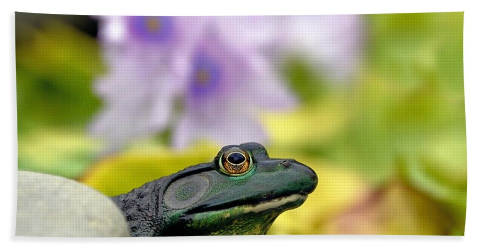 American Hand Towel featuring the photograph Stop And Smell The Hyacinths by Sharon Woerner