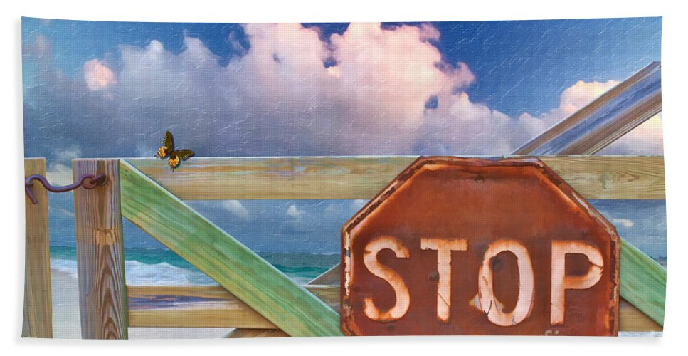 Stop Hand Towel featuring the photograph Stop by Liane Wright