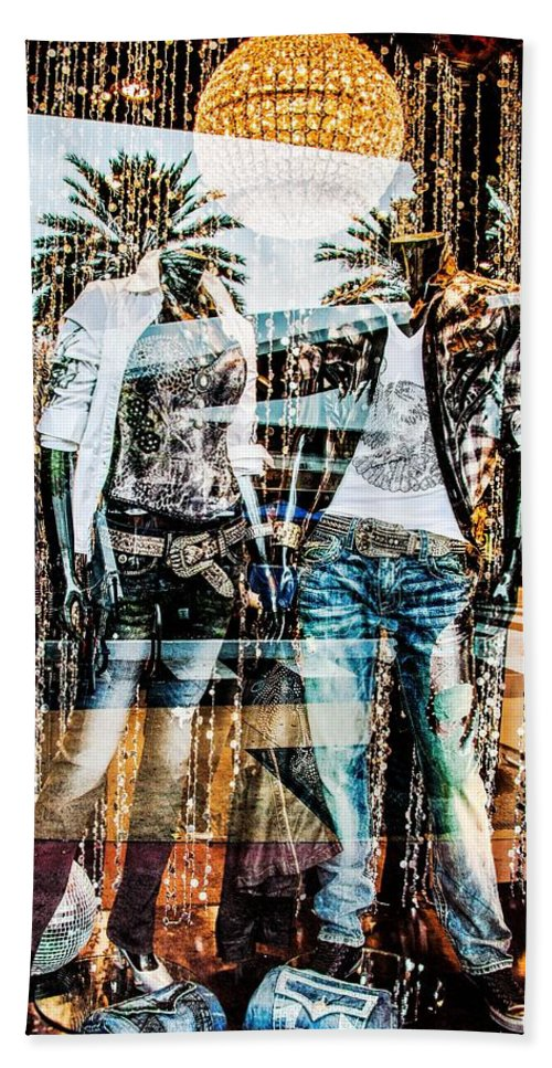 Store Hand Towel featuring the photograph Store Window Display by Rudy Umans
