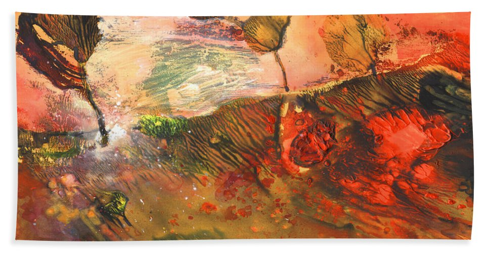 Impressionism Hand Towel featuring the painting Storm At Sunup by Miki De Goodaboom