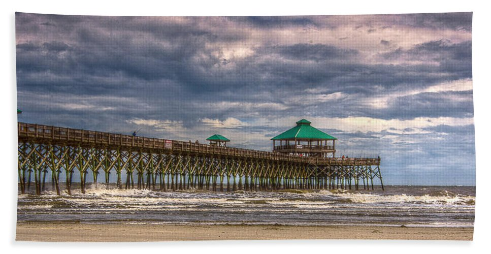 Charleston Hand Towel featuring the photograph Storm Clouds Approaching - Hdr by E Karl Braun