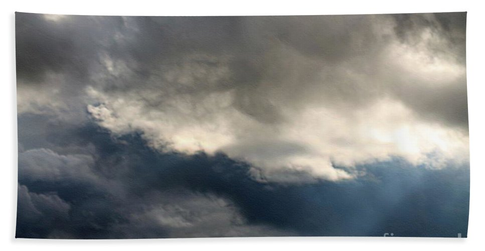 Storm Clouds Hand Towel featuring the photograph Storm Clouds by J McCombie