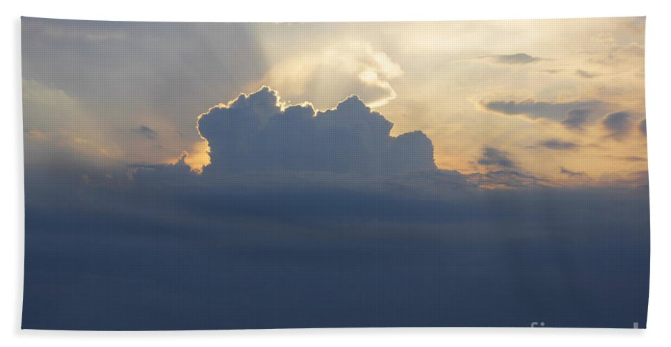 Landscape Hand Towel featuring the photograph Storm Front Approaching by Barbara McMahon