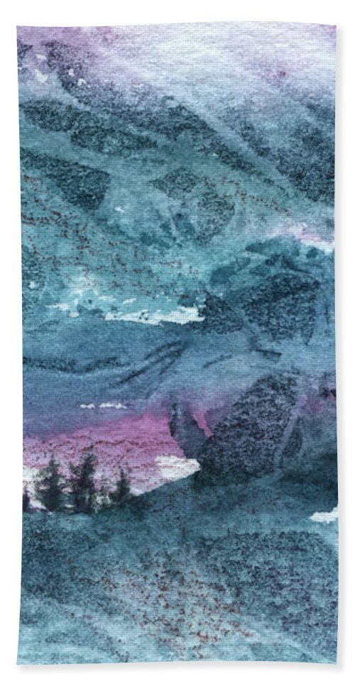 Storm Hand Towel featuring the painting Storm II by Lynn Quinn