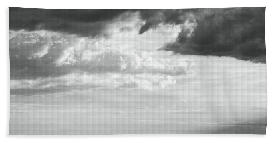 Storm Hand Towel featuring the photograph Storm Light On The Desert by Roupen Baker