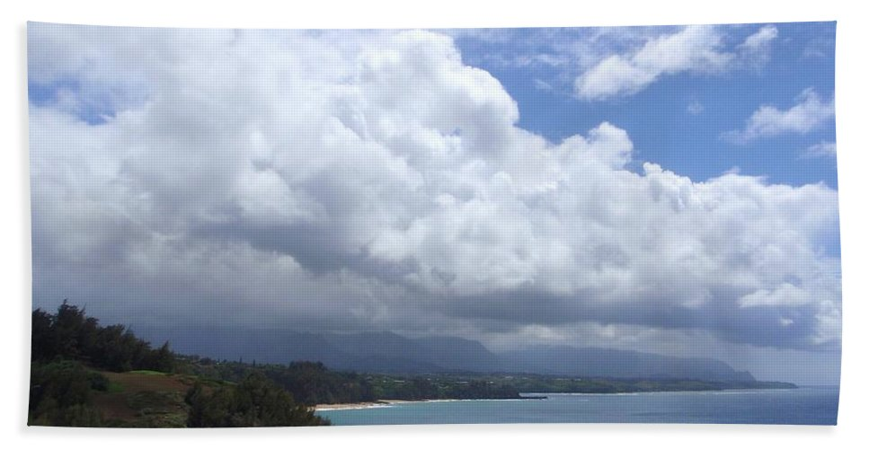 Bali Hai Hand Towel featuring the photograph Storm Over Bali Hai by Mary Deal